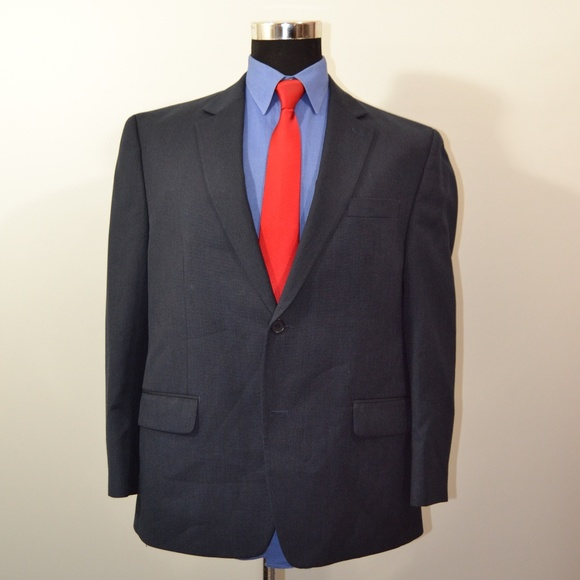 Izod Other - Izod 44S Sport Coat Blazer Suit Jacket Navy Polyes